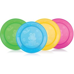 Nuby Set of 4 Lunch Plates