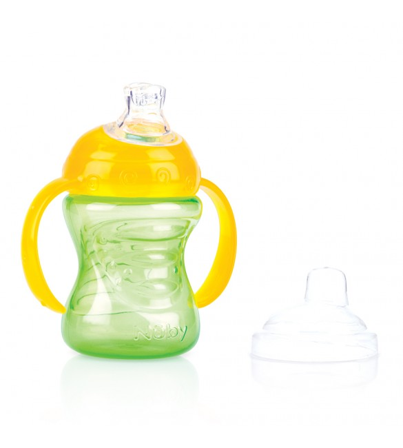 Nuby Swirl No-Spill Cup - 240ml - 6m+ (Green)