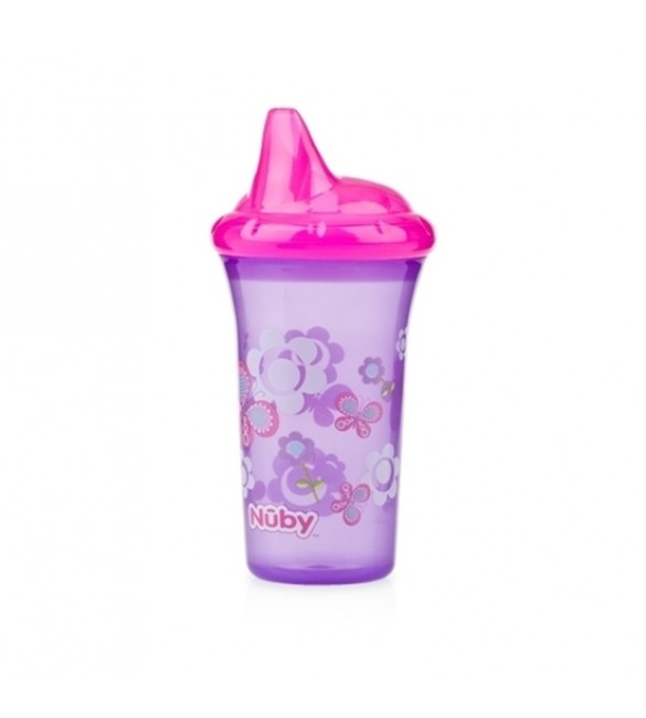 Nuby No-Spill™ Hard Spout Cup - Purple