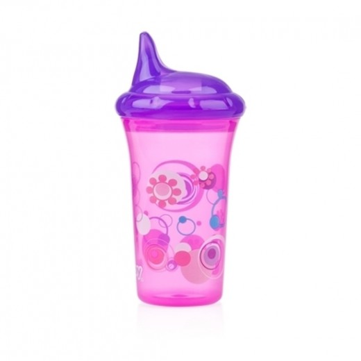 Nuby No-Spill Hard Spout Cup - Pink