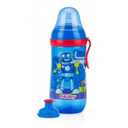 Nuby Free Pop-Up Sipper - Blue Robot