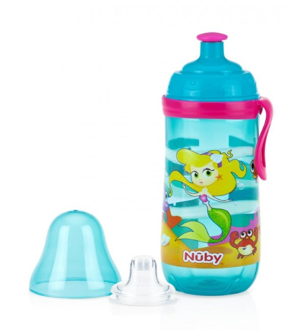 Nuby Free Pop-Up Sipper - Mermaid