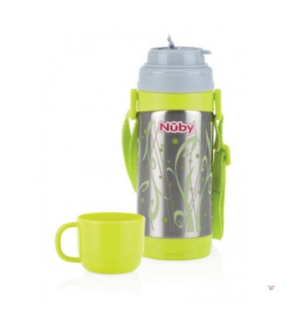 Nuby stainless steel thermos flowing spout cup