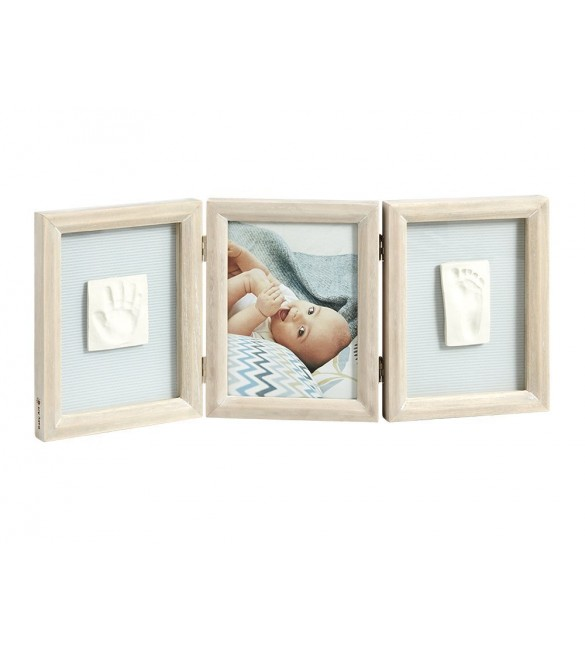 Baby Art My Baby Touch 2 Print Frame - wooden