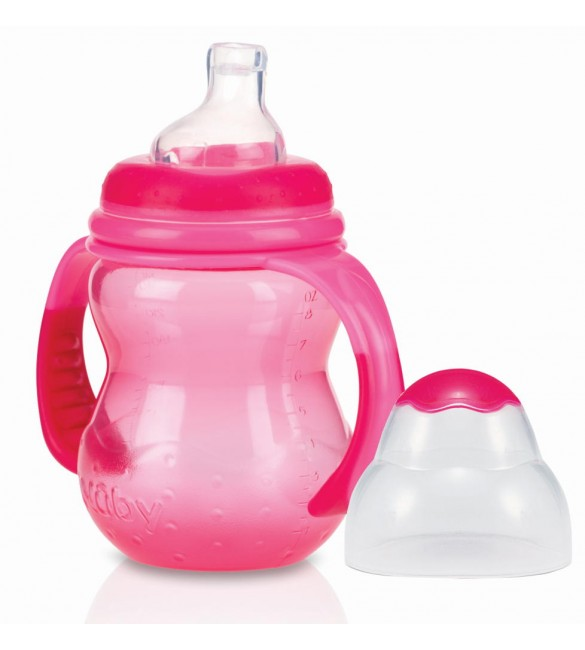 Nuby Training Bottles - 240ml (Pink)
