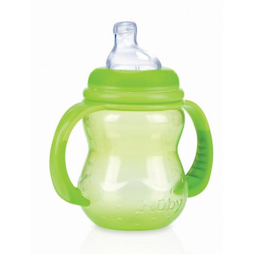 Nuby Training Bottles - 240ml (Green)