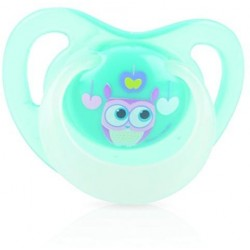 Nuby Pacifiers - Glow Ortho (Owl) Stage One (0-6 Months)