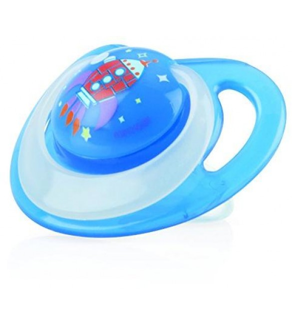 Nuby Pacifiers - Glow Ortho (Blue) Stage one 0-6 Months