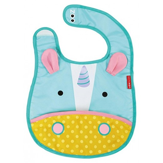 Skip Hop Zoo Infant and Toddler Tuck-Away Bib, Unicorn