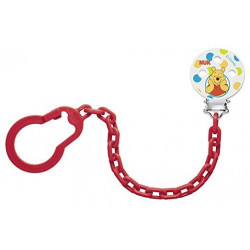 NUK Disney Winnie the Pooh soother chain (Red)