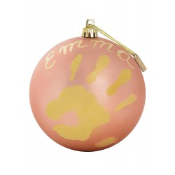 Baby Art Christmas Bauble (Coral)