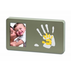 Baby Art  Duo Paint Print Frame (Taupe & Sun)