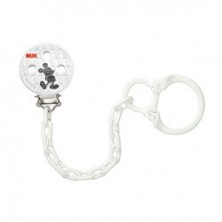 NUK Soother Chain Mickey (White)