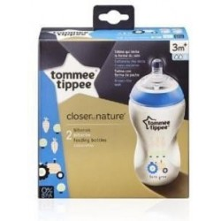 Tommee Tippee Closer to Nature 2x 340ml - Blue