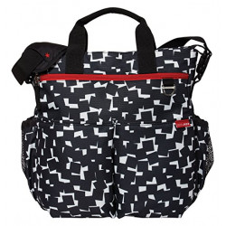 Skip Hop Duo Signature Diaper Bag, Cubes, Black/White