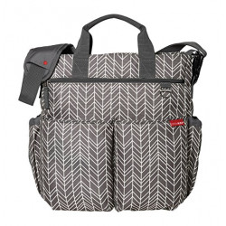 Skip Hop Duo Signature Diaper Bag with Portable Changing Mat, Grey
