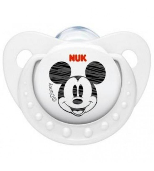 NUK Mickey Mouse Soother Stage 2 (White) / (6-18 Months)