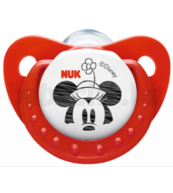 NUK Mickey Mouse Soother Stage 2 (Red) / (6-18 Months)