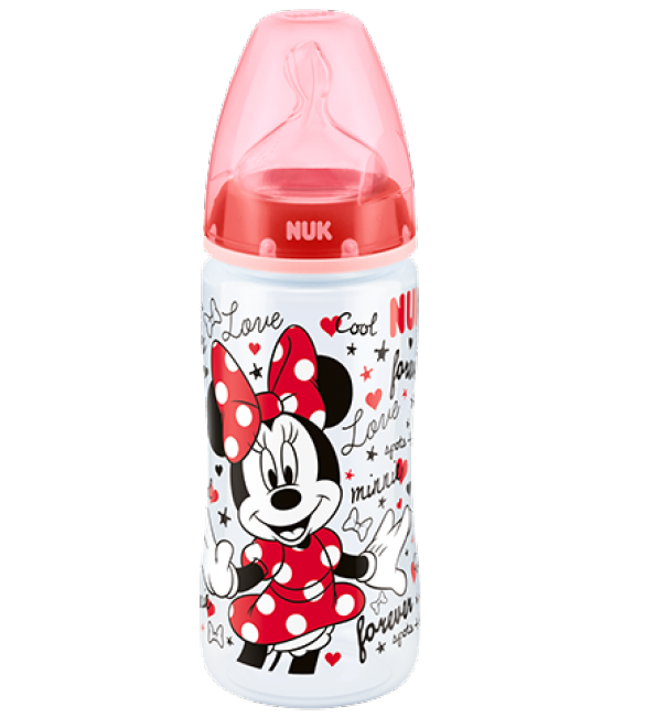 NUK Mickey Mouse Bottle (6-18 Months) / Red