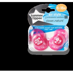 Tommee Tippee Soother Air Style (6-18 Months) -Pink
