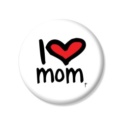 YMSketch-I Love Mum Pin Button