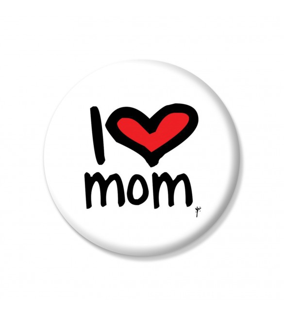I Love Mum YMSketch Pin Button
