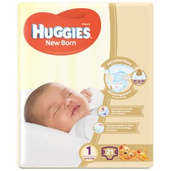Huggies Newborn Size (1) 2-5kgs 21 Diapers