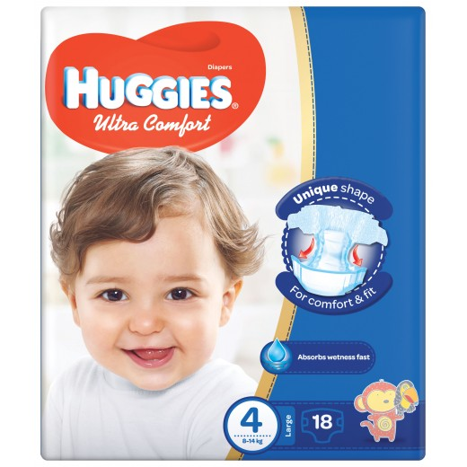 Huggies  Convenience Size(4) 8-14KG 18 Diapers