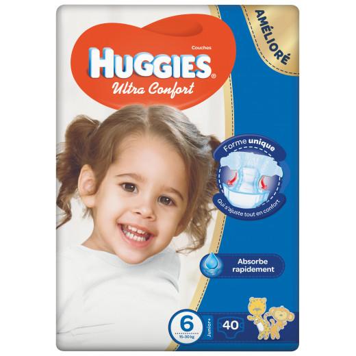 Huggies  Jumbo Size (6) 15-30GK 40 Diapers