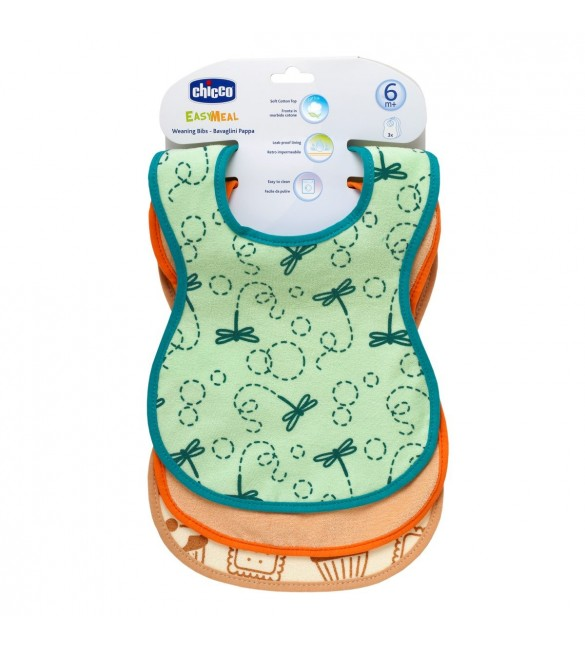 Chicco Weaning cotton bibs 3 PCS