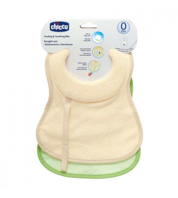 Chicco Feeding & Soothing Bibs 0M+ 2PCS