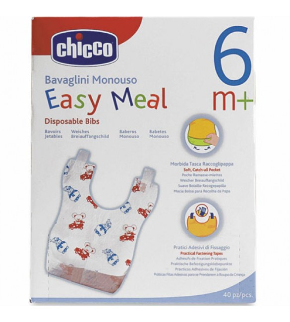 Chicco Disposable Bibs 40 Pcs