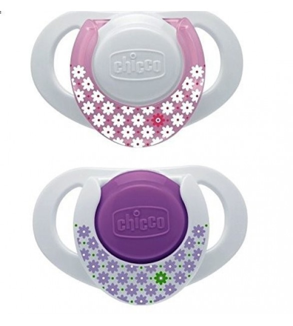 Chicco Physio Compact Pink 0-6M Silicone 2Pc
