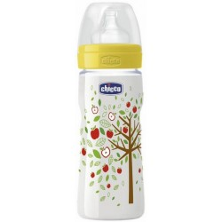 Chicco Wellbeing Bottle 330ml Silicone - Food Flow (yellow)