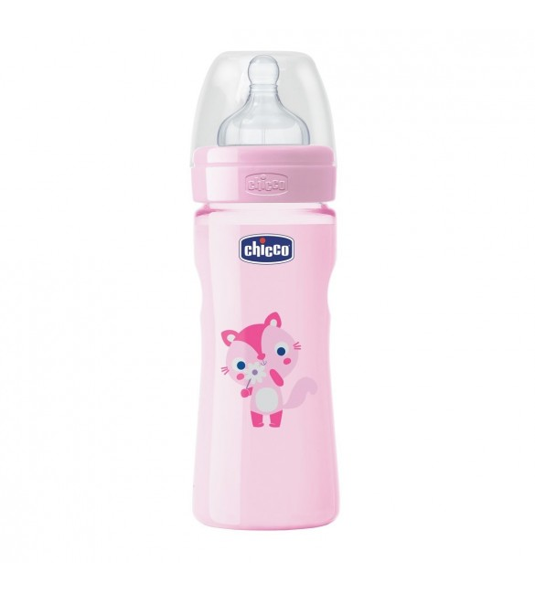 Chicco - Well-Being Bottle 250ml- Silicone (Cat)