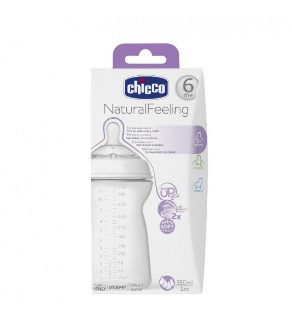 Chicco Natural Feeling 6m+ 330 ML Fast Flow