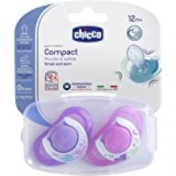 Chicco Physio Compact Pink (12M+) Silicone 2 Pieces