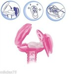 Chicco Clip With Teat Cover- Pink