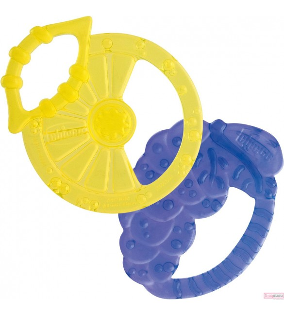 Chicco Soft Relax Silicone Teething Ring 2M+ 2Pcs.