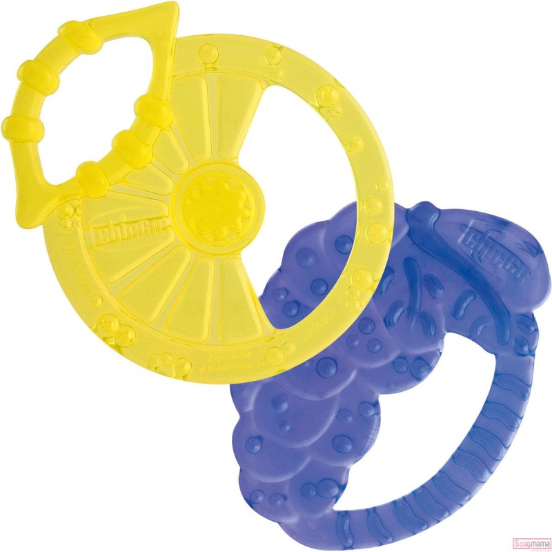 Chicco Soft Relax Silicone Teething Ring (3M+) 2 Pieces.  88ec21705767