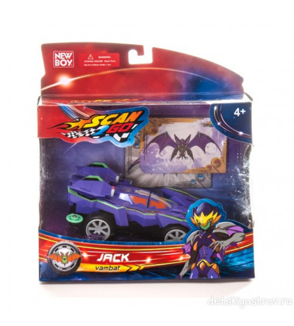 New Boy Scan2Go Jack Vambat Racer + Power Card & Turbo Card Figure Pack