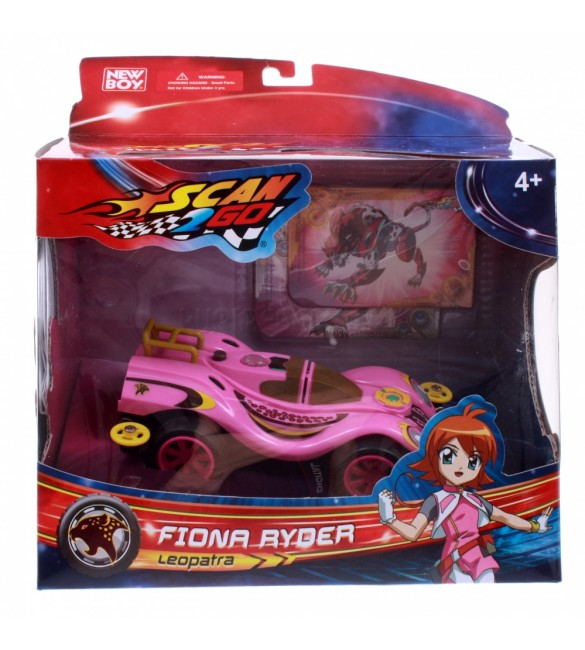 Scan2Go Car Panther Leopatra Multi Racer + Power Card & Turbo Card Figure Pack