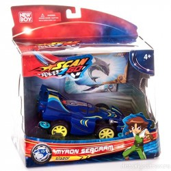 Scan2Go Car Shark Slazor Multi Racer + Power Card & Turbo Card Figure Pack
