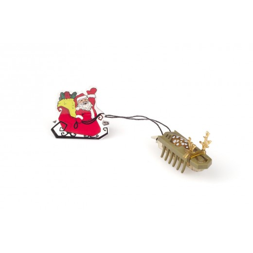 HEXBUG Newton Series Holiday Nano Reindeer Pull Santa's Sleigh