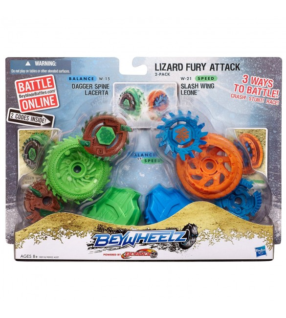 Beywheelz Lizard Fury Attack 2-Pack