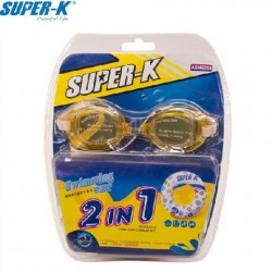 Super-K Swimming Set - One Swimming Goggle and One Inflatable Ring