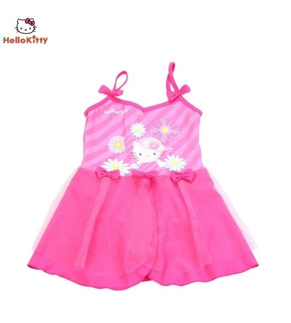 Hello Kitty Girls Swimming Princess Suit 1 Piece