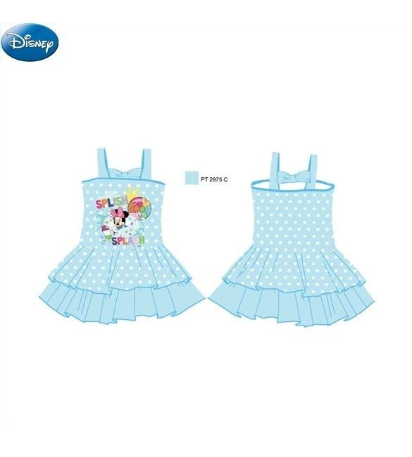 Disney Girls Swimming Dress - Sky Blue