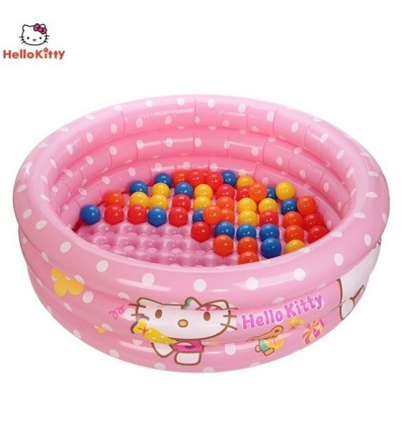 Hello Kitty Inflatable Pool With Fifty PVC Balls
