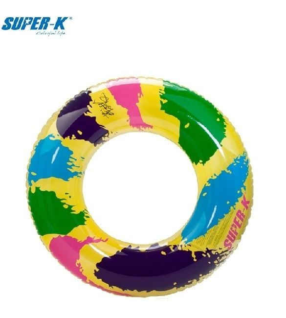 Super-K 50cm Inflatable Ring - Colorful Pattern